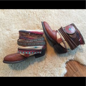 Beautiful Up-cycled Cowboy Boots